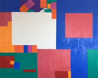 Mario España - Composition I Oil on Canvas, Paintings