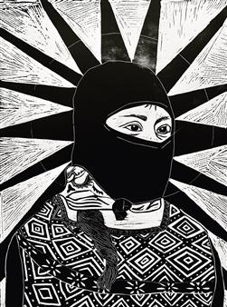 Vanessa Gonzalez - Zapatista Linocut, Prints