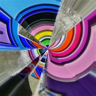 Juan Murcia - Wynwood Architectural Colors Archival Pigment Print, Photography