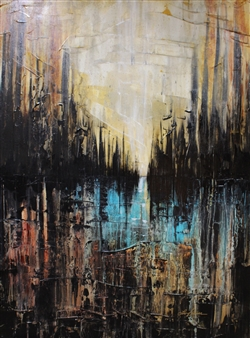 Lisa Sommers - Dark City Acrylic on Canvas, Paintings