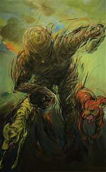 Jian Jun An - Run Acrylic on Canvas, Paintings