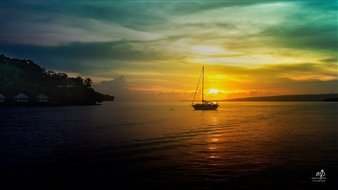 Mireille Pizzo - Sun Setting Over Port Vila Photograph on Metallic Paper, Photography
