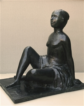 Stefano Puleo - Bather Bronze, Sculpture