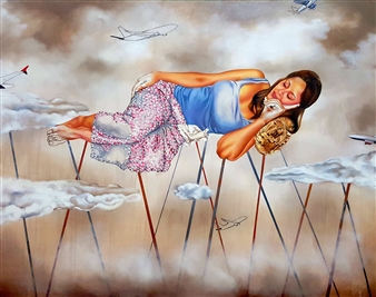 Renuka Sondhi Gulati - In My Dreams Acrylic & Oil on Canvas, Paintings