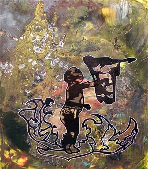 Henrik Sjöström (El Bastardo) - A Bias Indemnity Acrylic & Spraypaint on Canvas, Paintings