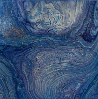 Patti Hodder - Big Blue Acrylic on Canvas, Paintings
