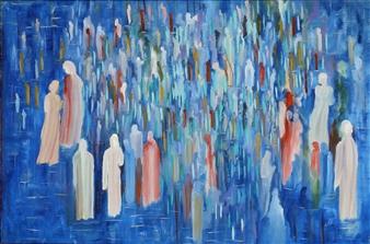 Joe Koury - Solidarity Acrylic on Canvas, Paintings