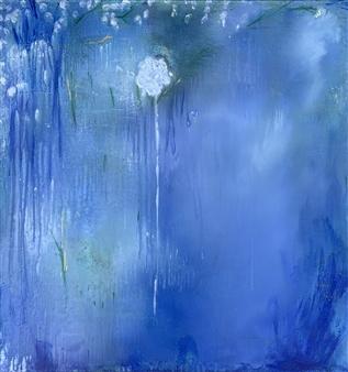 Jodi DeCrenza - Mystical Flower Acrylic on Canvas, Paintings