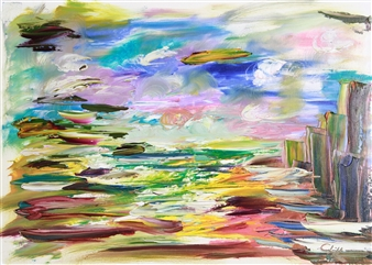 Christine Lückmann - Ocean Oil on Canvas, Paintings