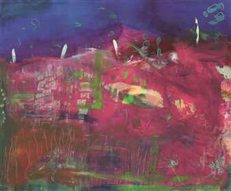 Gerlinde Amei Wöllmer - Atlantis Acrylic & Crayon on Canvas, Mixed Media