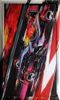 Matus Prochaczka (WEKOWORKS) - 33_Max Verstappen Night Race Digital Artwork Print on Canvas & Acrylic, Mixed Media