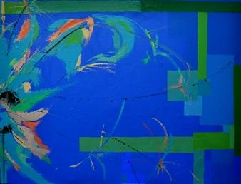 Cristina Prieto Crespi - Natura I Oil on Canvas, Paintings