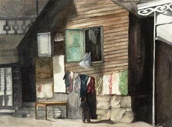 Nancy Holleran - Dominica Watercolor on Paper, Paintings