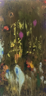 Jodi DeCrenza - Rustic Rain Acrylic on Canvas, Paintings