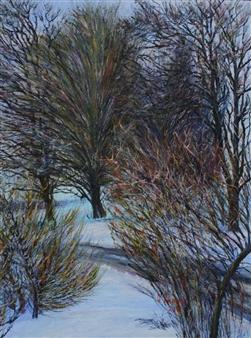 Oleg Kirnos - Winter Landscape. February Oil on Canvas Board, Paintings