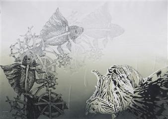 Juan Salazar - From the Series Contracorriente 5 Collograph, Prints