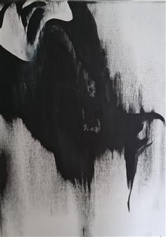 Konka - Angel No. 4 Acrylic on Canvas, Paintings