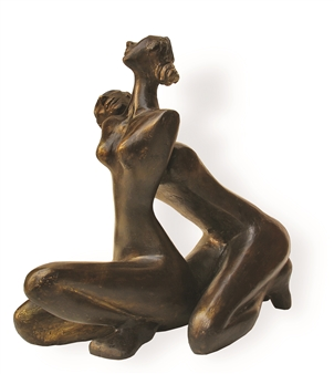 Renuka Sondhi Gulati - Intimacy Bronze, Sculpture