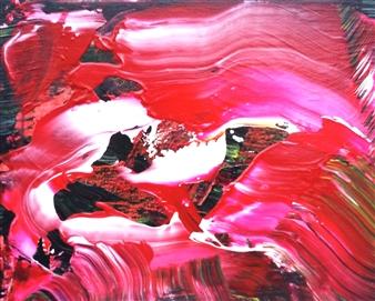 Makoto Oshima - No. 210104 Acrylic on Canvas, Paintings