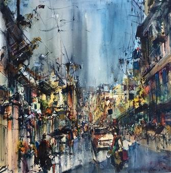 Alejandro Miras - Urbano Watercolor, Paintings