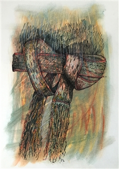 Manuel Riquelme Loyola - Hand Made Pastel on Paper, Paintings