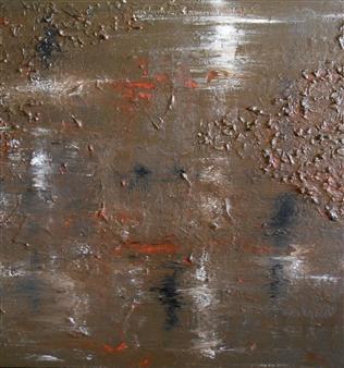 Carol Kavish - Marsh Acrylic & Sand on Canvas, Mixed Media