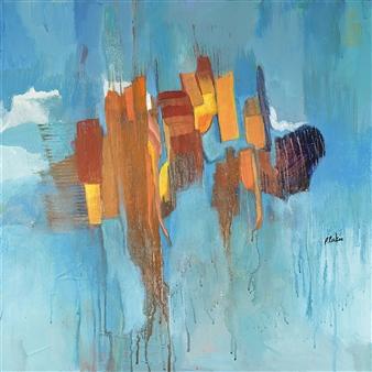 Pauline Rakis - Jagged Peaks Acrylic on Canvas, Paintings