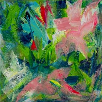 Katja van den Bogaert Anna K Art - Summer Vibe Acrylic on Linen, Paintings