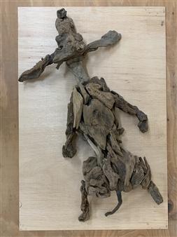 Akemi Fujita - Dog 2 Wood, Sculpture