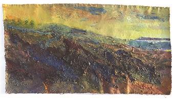 Frances Hatch - Eleven Percent Moon Acrylic & Mixed Media on Canvas, Mixed Media