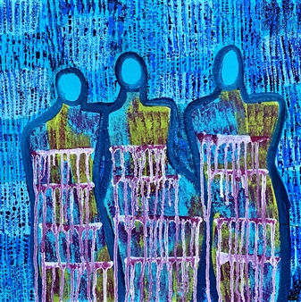 Sierra Barnes - Journey Of Healing Acrylic on Canvas, Paintings