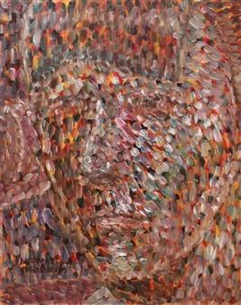 Masaoki Mitsutake - Face No.10 Oil on Canvas, Paintings