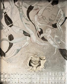 Sigrid Thaler - Al Ristorante Acrylic & Silver Leaf on Canvas, Mixed Media