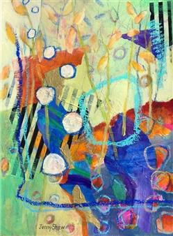 Jenny Shaw - #2720 Mixed Media on Paper, Mixed Media