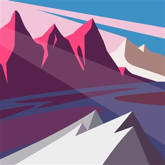 Phil Leith-Tetrault - Mountain Light Digital Print on Paper, Prints