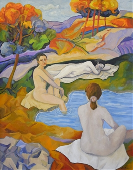 Stefano Puleo - Bathers Oil on Linen, Paintings