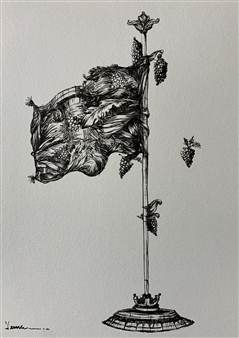 Jeine Roque - My Flag Pencil on Paper, Drawings