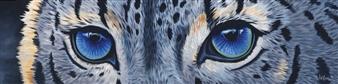 Leilani - Snow Leopard Eyes Acrylic on Canvas, Paintings