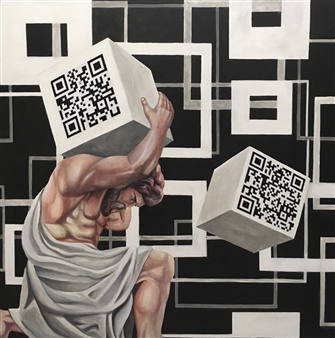 Kostadin Tanusev - knowledge Acrylic and Paper on Canvas, Paintings