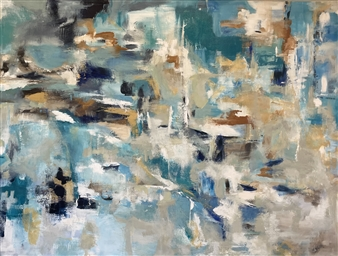 Kate Robinson - New Day Acrylic on Canvas, Paintings