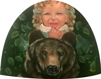 Rosana Largo Rodríguez - Happiness Oil on Canvas of Wood, Bell Shape, Paintings