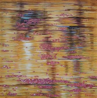Madhuri Bhaduri - Reflections 6 Oil on Canvas, Paintings
