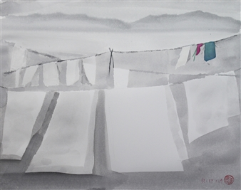 Becky Sungja Kim - WCI 1805 Watercolor on Paper, Paintings