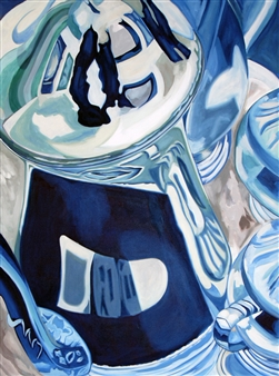 Maribel Matthews - Silver Pots Oil on Canvas, Paintings