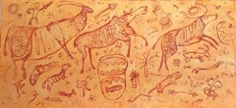 Madina Pavlyuk - Archaic Oil on Canvas, Paintings