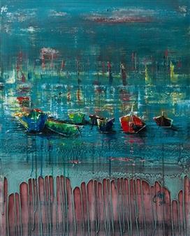Chantal Roy - Maree Basse Acrylic on Canvas, Paintings