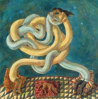 Luz Letts - La Noche Estrellada (Starry Night) Acrylic on Canvas, Paintings