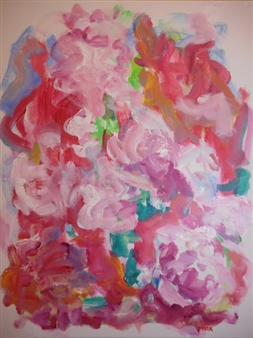 Susan Marx - Cherry Blossoms Acrylic on Canvas, Paintings