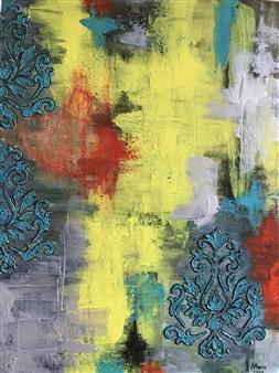 Mona Taqi - Orient Spirit Acrylic on Canvas, Paintings