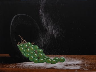 Diana Vargas - John 15:5 Acrylic & 3D on Photograph Printed on Canvas, Mixed Media